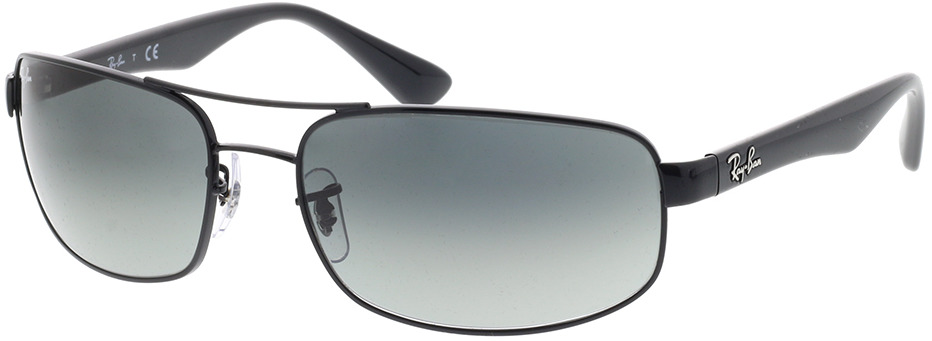 Picture of glasses model Ray-Ban RB3445 002/71 61-17 in angle 330