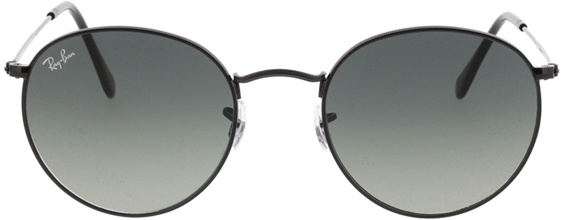 Picture of glasses model Ray-Ban Round Metal RB3447N 002/71 53-21 in angle 0