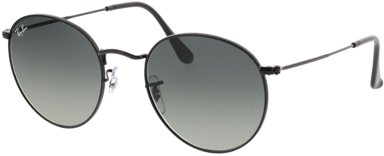 Picture of glasses model Ray-Ban Round Metal RB3447N 002/71 53-21 in angle 330