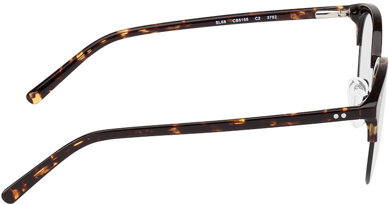 Picture of glasses model Breslau-brun marbré/noir in angle 90