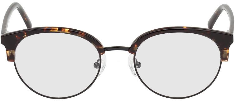 Picture of glasses model Breslau-brun marbré/noir in angle 0