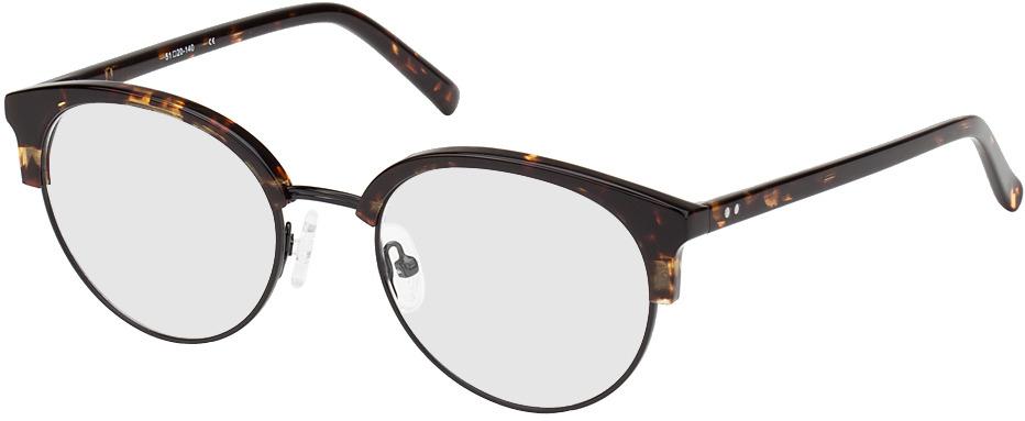 Picture of glasses model Breslau-brun marbré/noir in angle 330