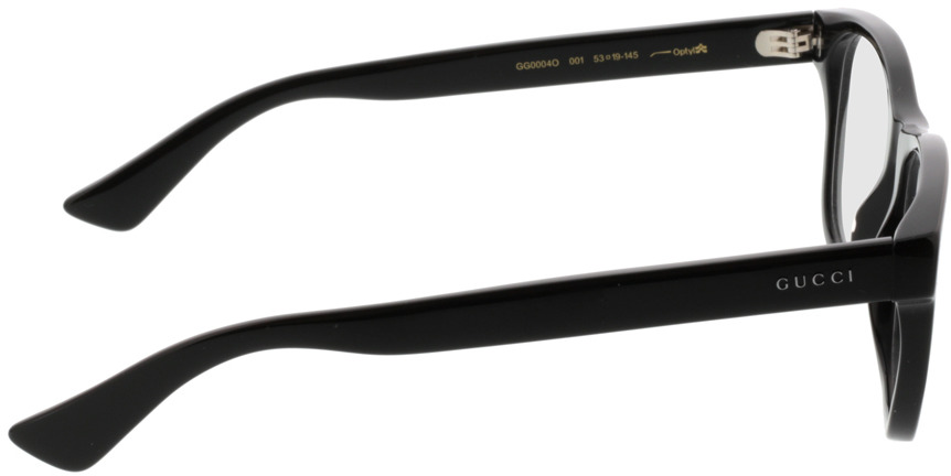 Picture of glasses model Gucci GG0004O-001 53-19 in angle 90