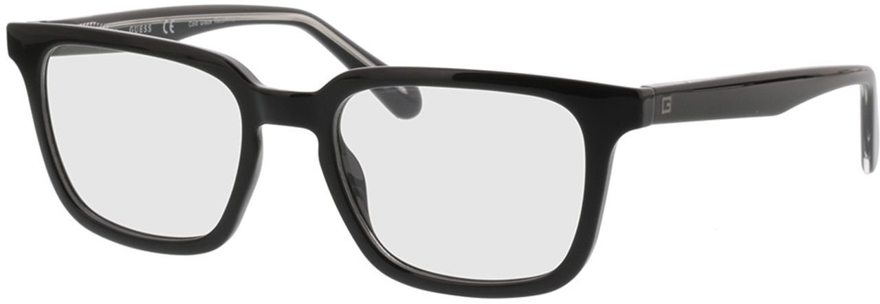 Picture of glasses model Guess GU1962 001 52-19 in angle 330