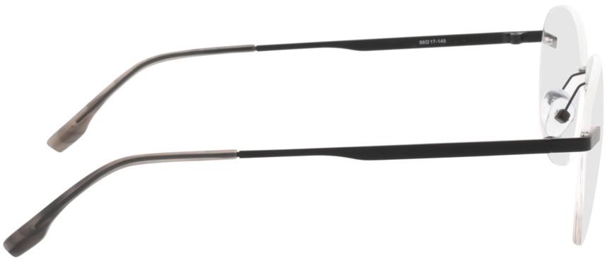 Picture of glasses model Nova-matt schwarz in angle 90