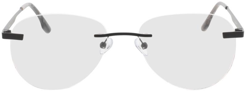 Picture of glasses model Nova-matt schwarz in angle 0