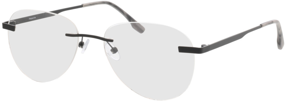 Picture of glasses model Nova-matt schwarz in angle 330