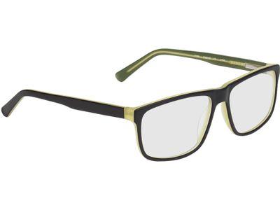Brille Taupo-schwarz/grün