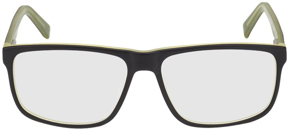 Picture of glasses model Taupo-black-green in angle 0