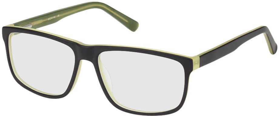 Picture of glasses model Taupo-black-green in angle 330