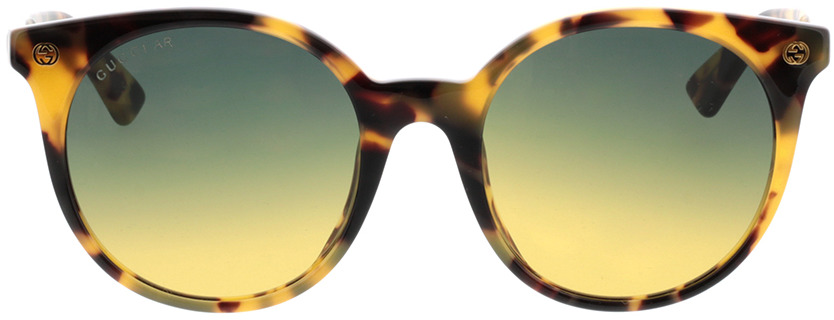 Picture of glasses model Gucci GG0091S-003 52-20 in angle 0
