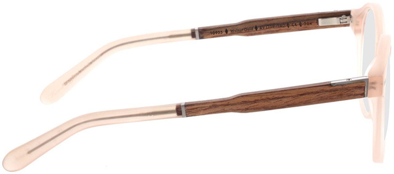 Picture of glasses model Wood Fellas Optical Solln Premium walnut/gold 49-19  in angle 90