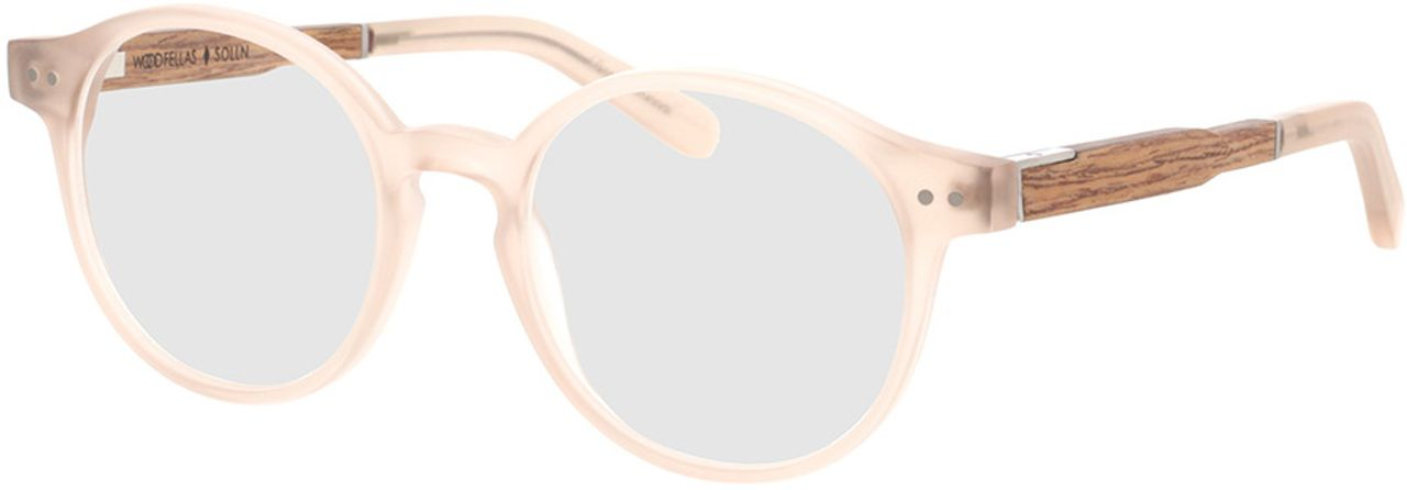 Picture of glasses model Wood Fellas Optical Solln Premium walnut/gold 49-19  in angle 330