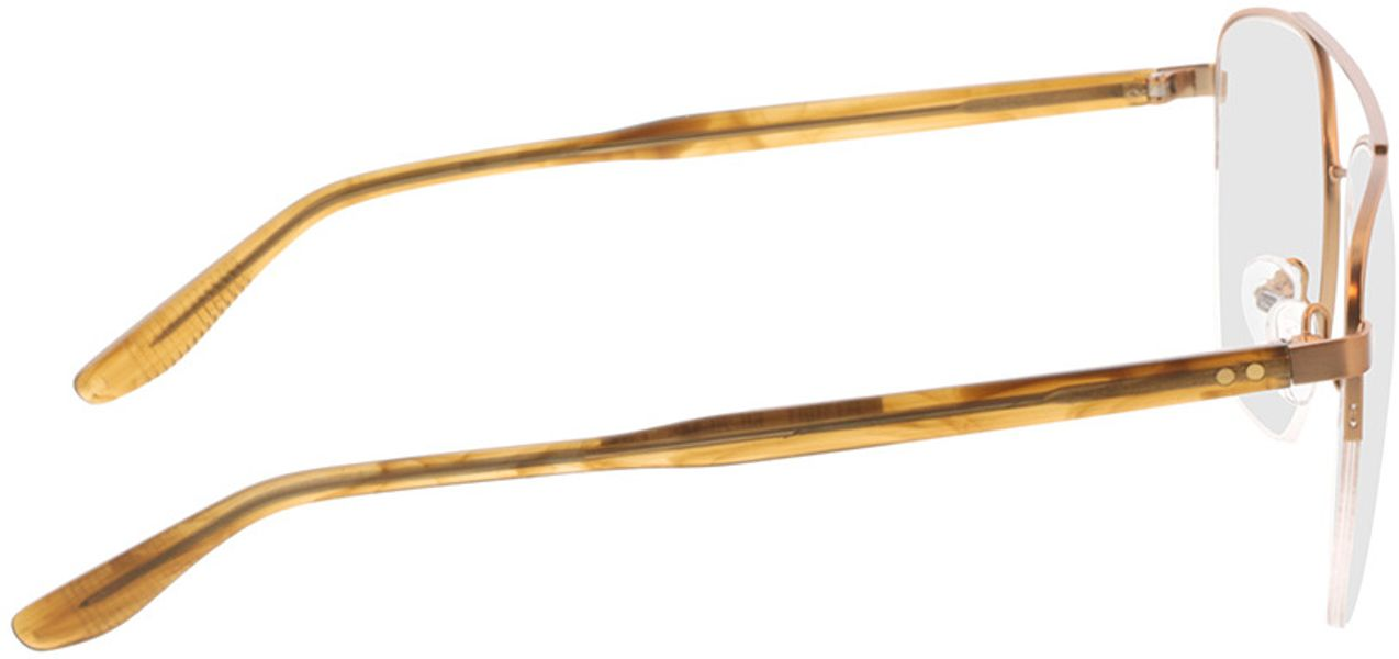 Picture of glasses model Zeus-bronze/braun horn in angle 90