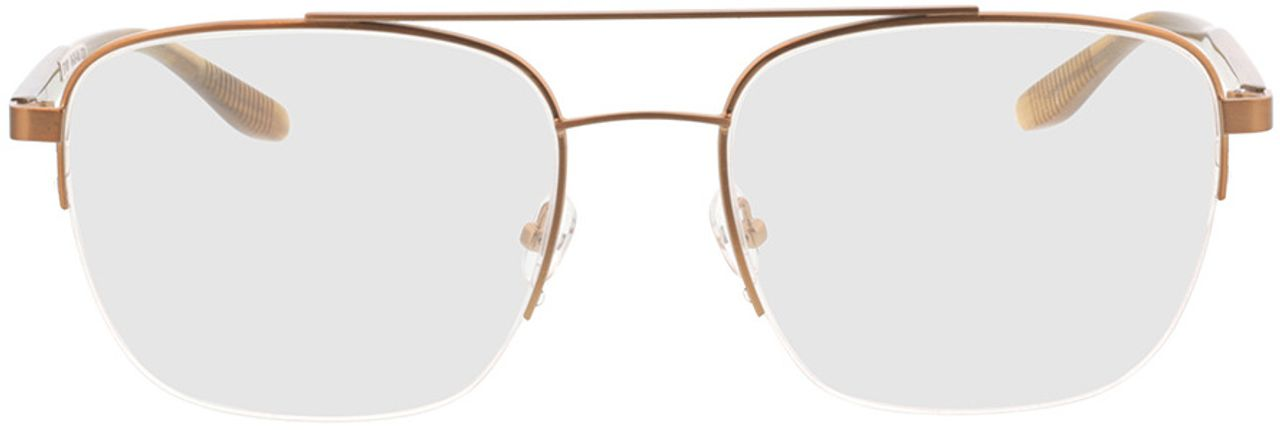 Picture of glasses model Zeus-bronze/braun horn in angle 0