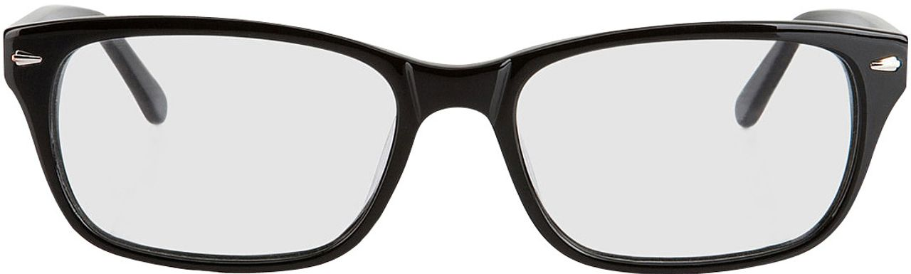 Picture of glasses model Santos black in angle 0