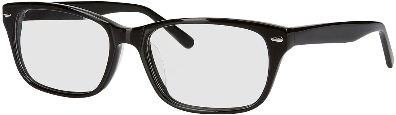 Picture of glasses model Santos black in angle 330