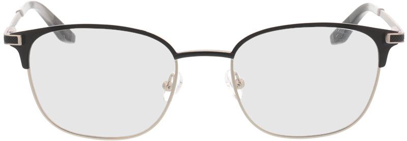 Picture of glasses model Nerio-matt schwarz matt silber in angle 0