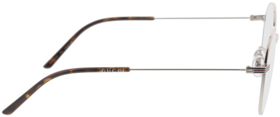 Picture of glasses model Gucci GG1054OK-003 51-21 in angle 90