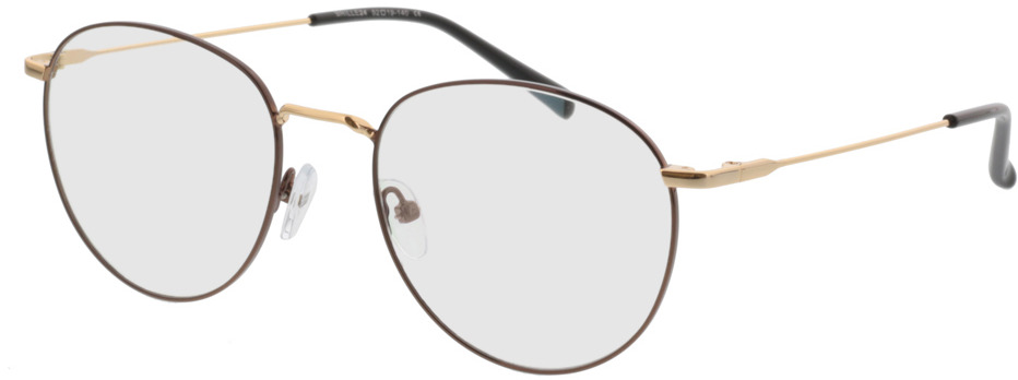 Picture of glasses model Louro-braun/gold in angle 330