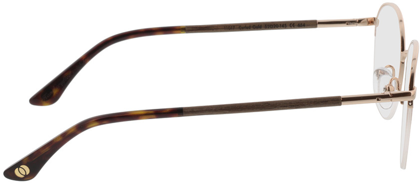 Picture of glasses model Wood Fellas Optical Cloudburst curled/gold shiny 52-20 in angle 90
