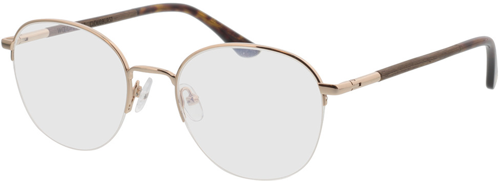 Picture of glasses model Wood Fellas Optical Cloudburst curled/gold shiny 52-20 in angle 330