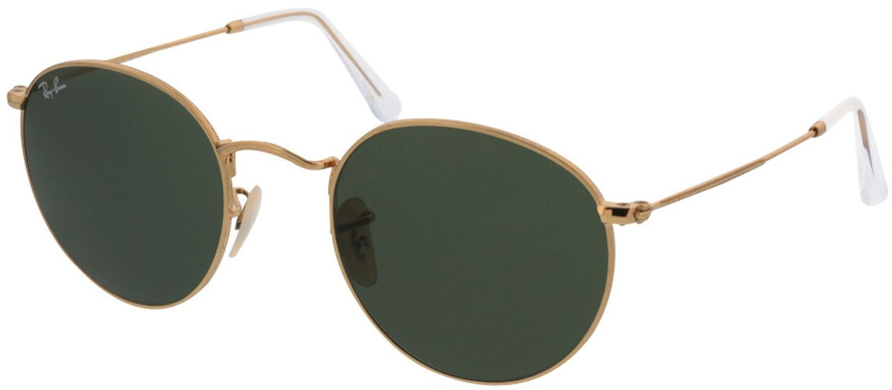 Picture of glasses model Ray-Ban Round Metal RB3447 001 50-21 in angle 330