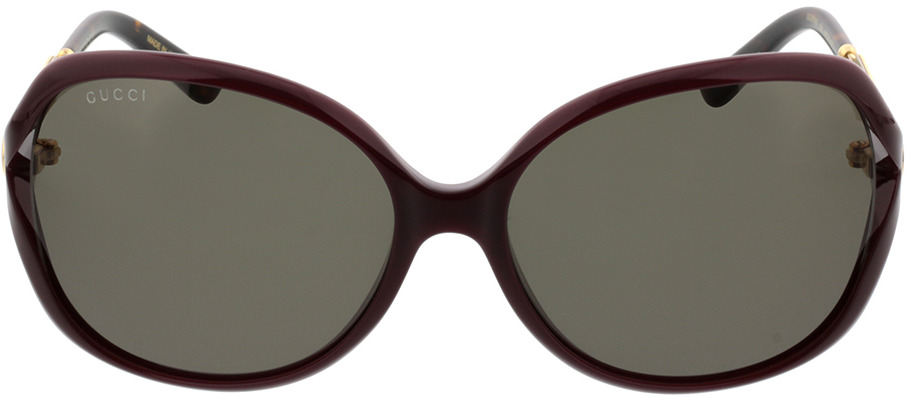 Picture of glasses model Gucci GG0076S-004 60-16 in angle 0