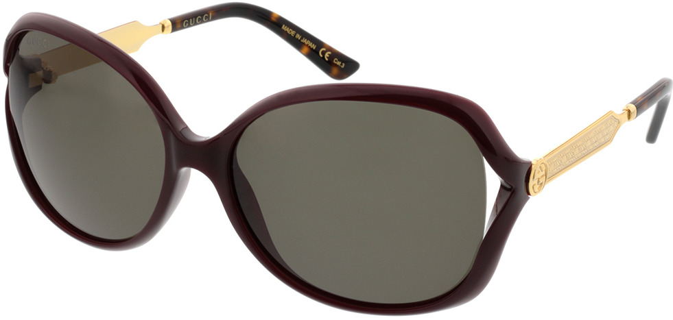 Picture of glasses model Gucci GG0076S-004 60-16 in angle 330
