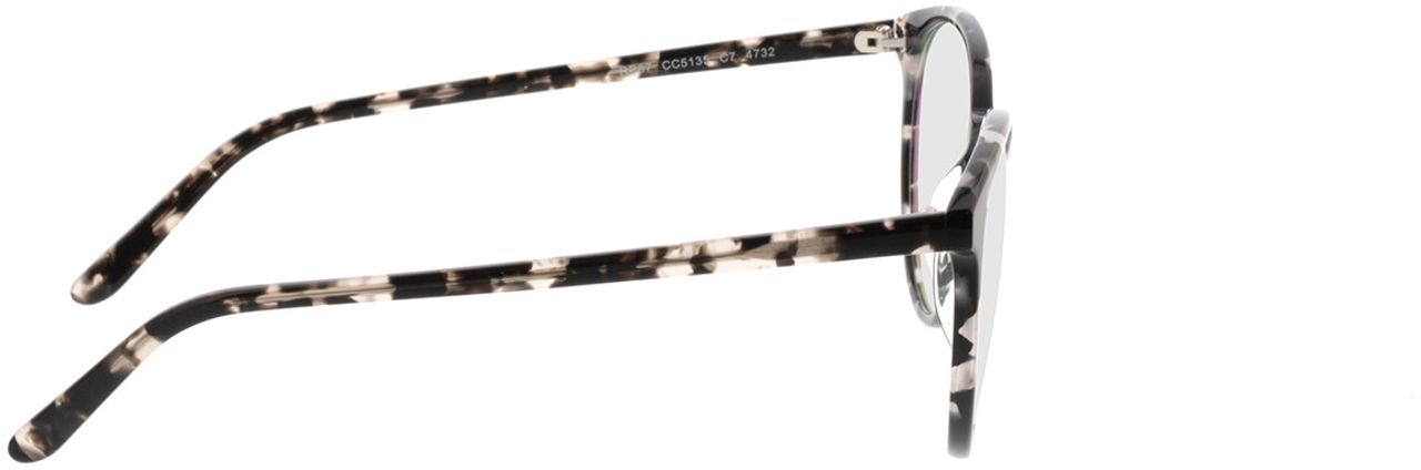 Picture of glasses model New York-grau-meliert in angle 90