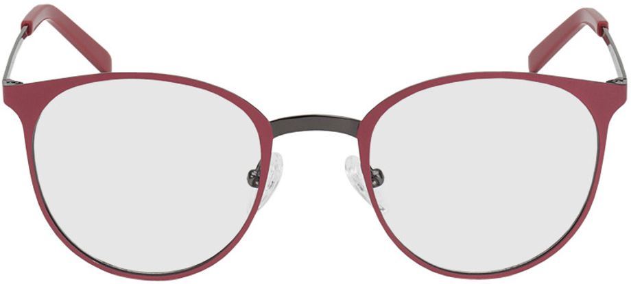 Picture of glasses model Bonn-red-gun in angle 0