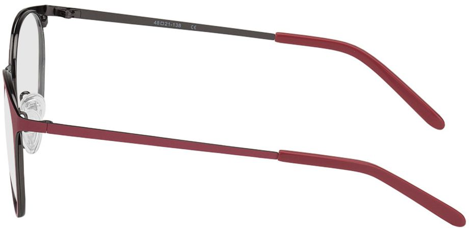 Picture of glasses model Bonn-red-gun in angle 270