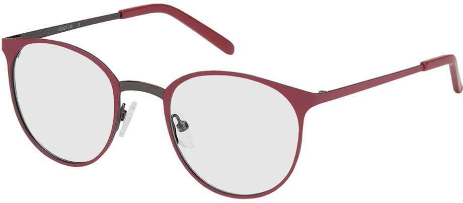 Picture of glasses model Bonn-red-gun in angle 330