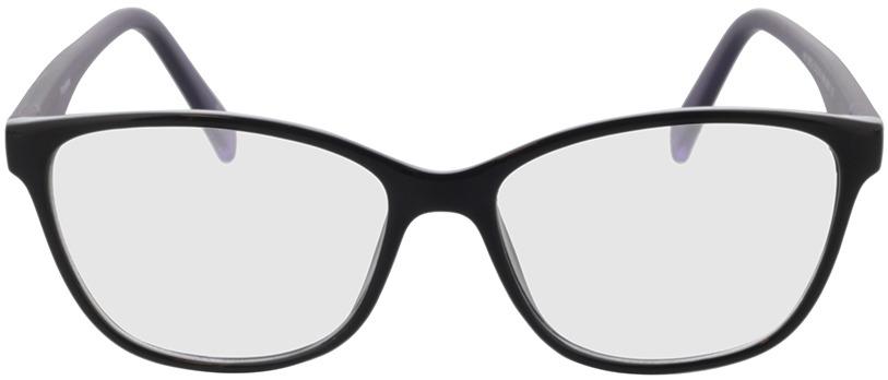 Picture of glasses model Frontera Zwart/lila in angle 0