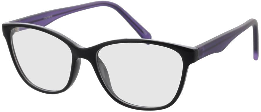 Picture of glasses model Frontera Zwart/lila in angle 330