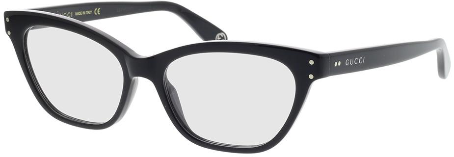 Picture of glasses model Gucci GG0570O-005 52-16 in angle 330