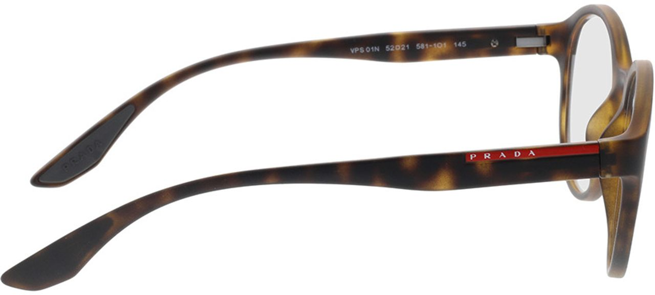 Picture of glasses model Prada Linea Rossa PS 01NV 5811O1 52-21 in angle 90