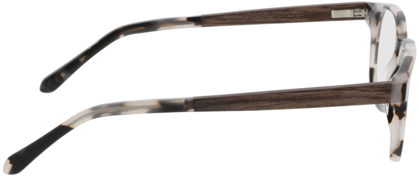 Picture of glasses model TAKE A SHOT Oya Shell RX: Walnussholz 45-22 in angle 90