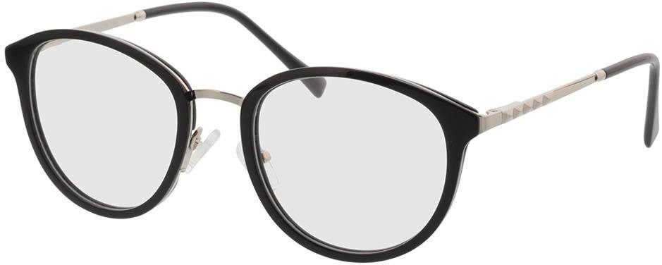 Picture of glasses model Covina-schwarz/silber in angle 330