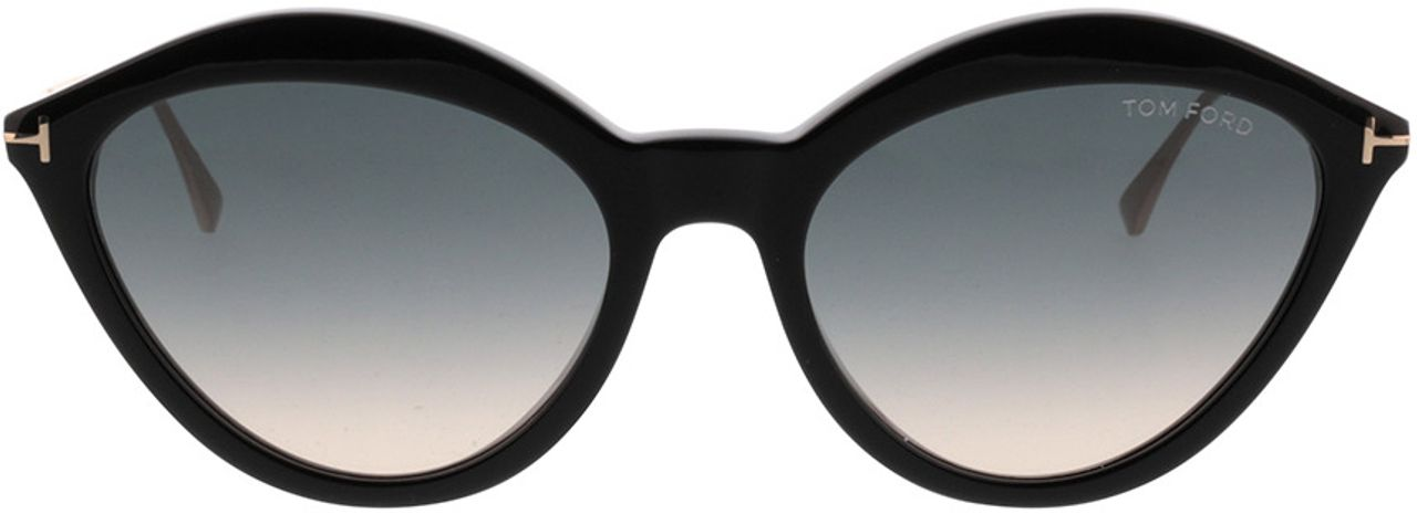 Picture of glasses model Tom Ford FT0663 01B in angle 0