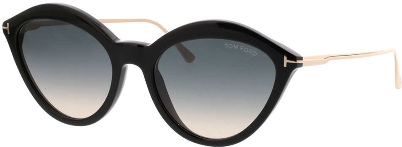 Picture of glasses model Tom Ford FT0663 01B in angle 330
