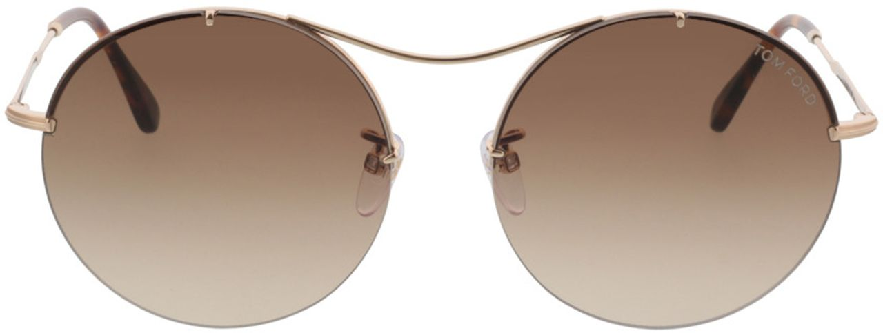Picture of glasses model Tom Ford Veronique FT0565 28F  in angle 0