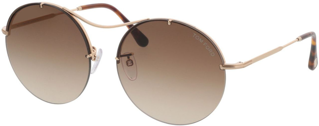 Picture of glasses model Tom Ford Veronique FT0565 28F  in angle 330