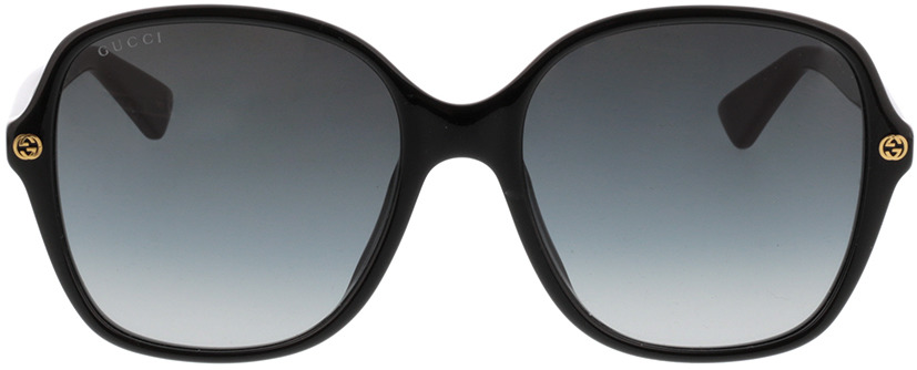 Picture of glasses model Gucci GG0092S-001 55-18 in angle 0