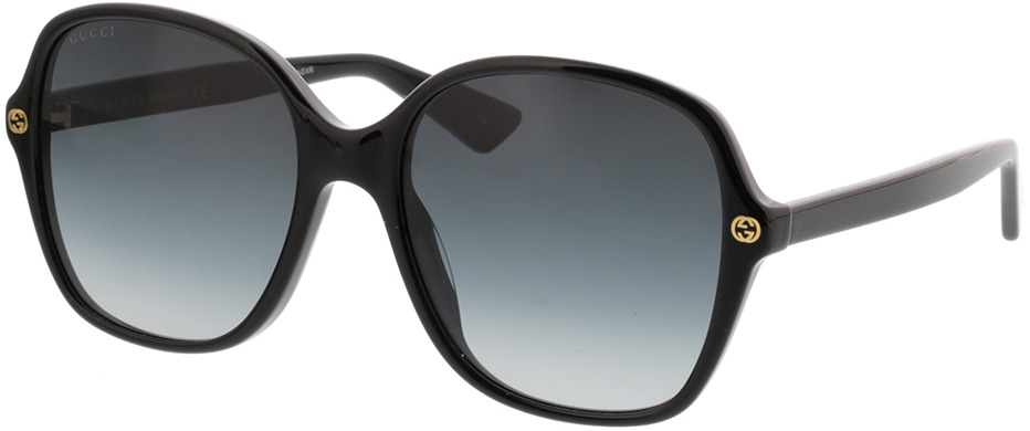 Picture of glasses model Gucci GG0092S-001 55-18 in angle 330