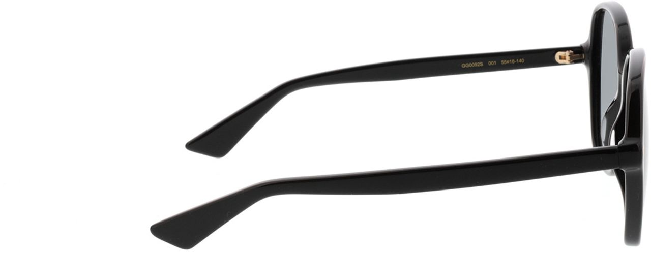 Picture of glasses model Gucci GG0092S-001 55-18 in angle 90