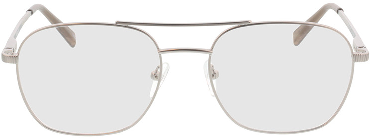 Picture of glasses model Metropolis-matt silber in angle 0