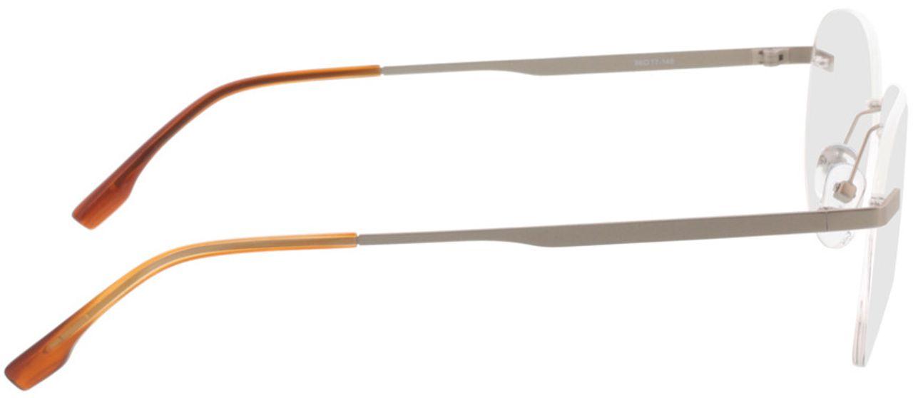Picture of glasses model Nova-matt silber  in angle 90