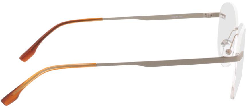 Picture of glasses model Nova-argenté mat in angle 90
