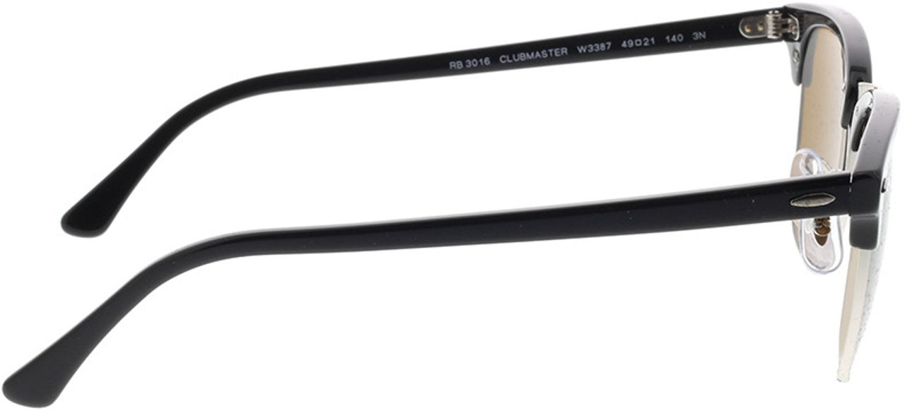 Picture of glasses model Ray-Ban Clubmaster RB3016 W3387 49-21 in angle 90